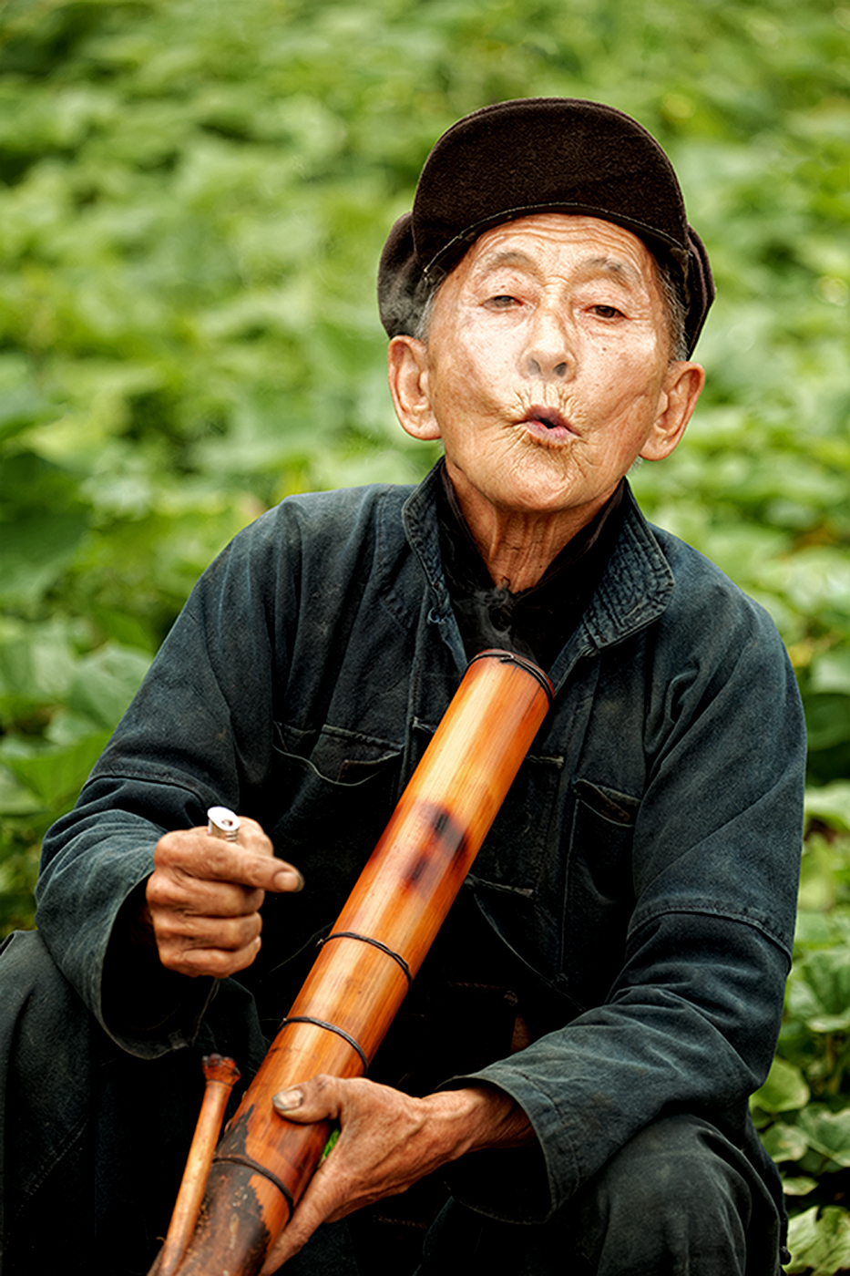Man with his Bong
