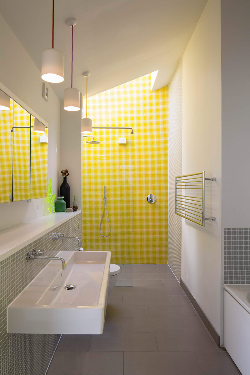 Bathroom of extension and remodelling of large 1970s house Porter Leake House