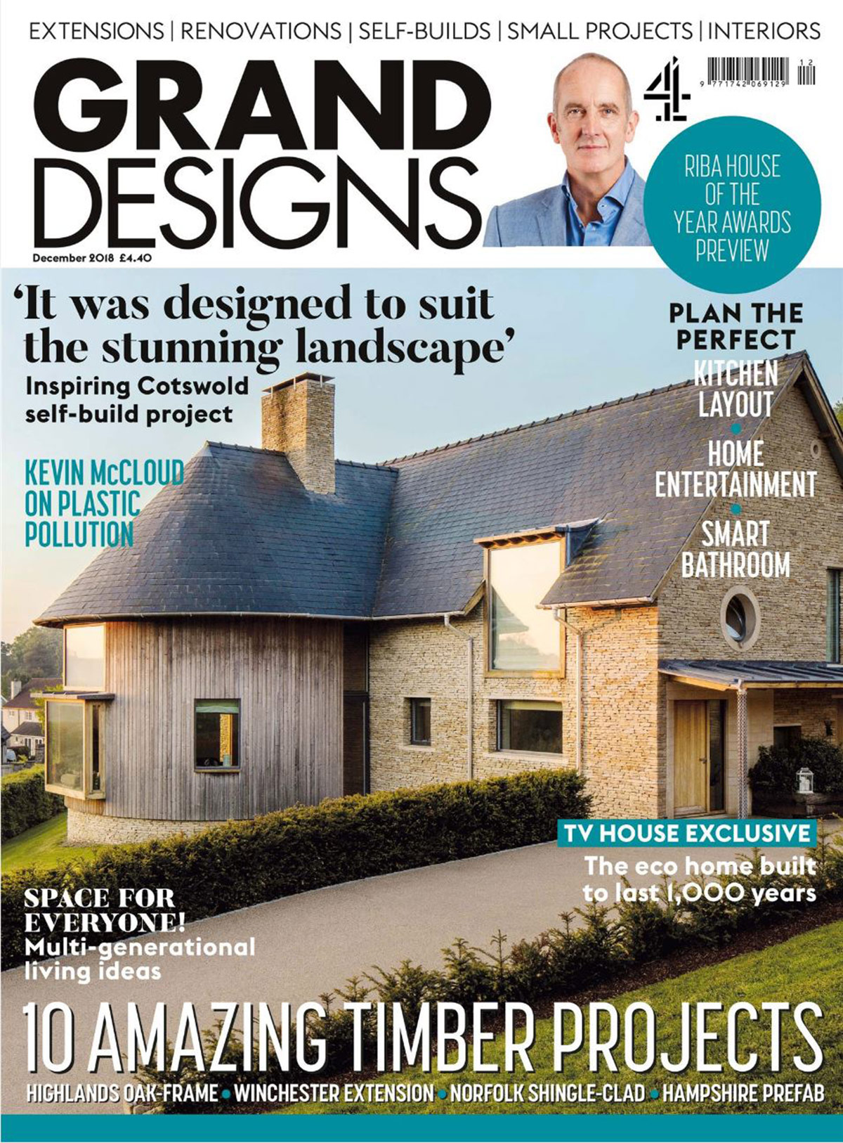 Front cover of Grand designs Magazine featuring Arosfa architectural project