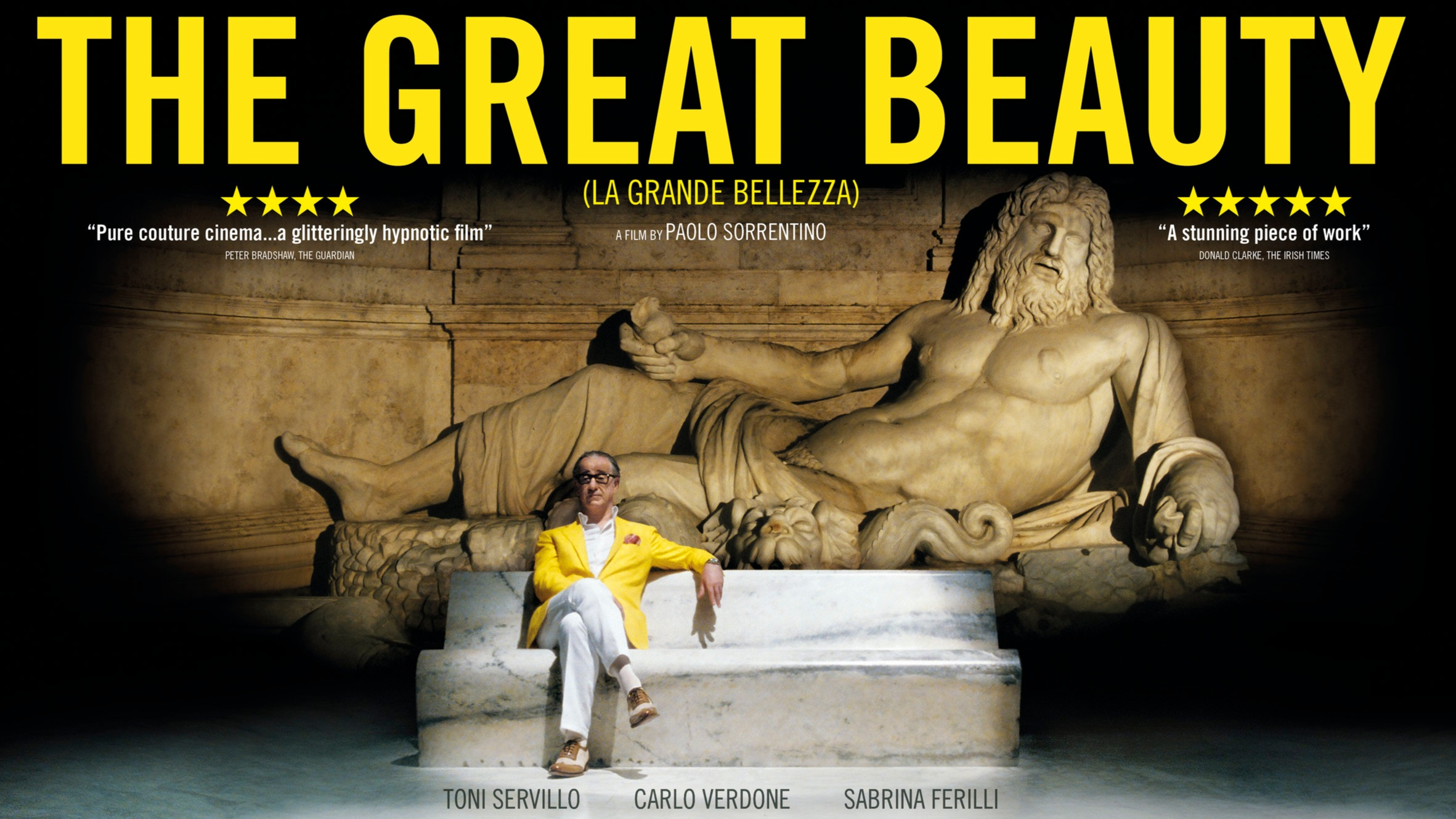The Great Beauty - Directed by Paolo SorrentinoStarring Toni Servillo, Carlo Verdone, Sabrina Ferilli