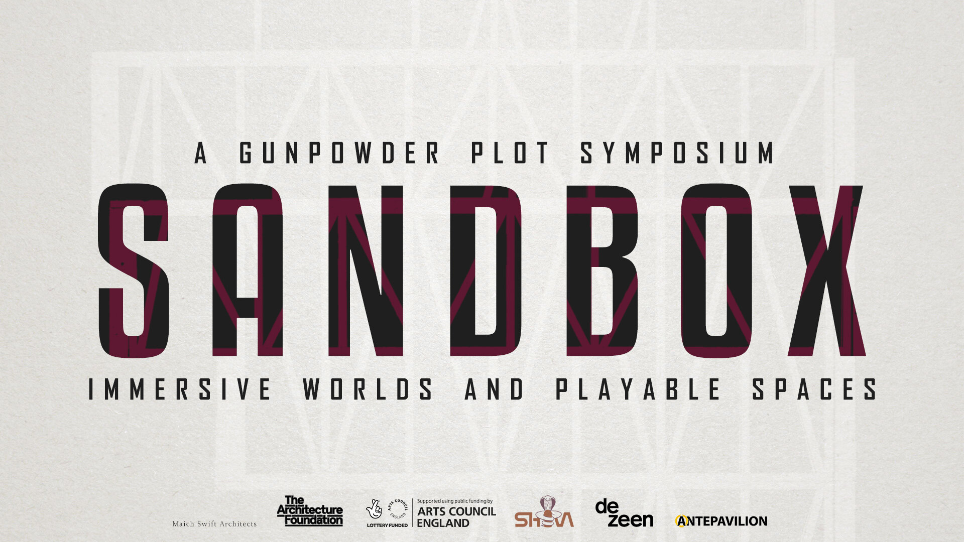 The UK's network for interactive and immersive industries, The Gunpowder Plot, returns with a baNG - SANDBOX is a two day symposium aiming to inspire thinking around designing immersive worlds, interactive experiences and playable spaces.