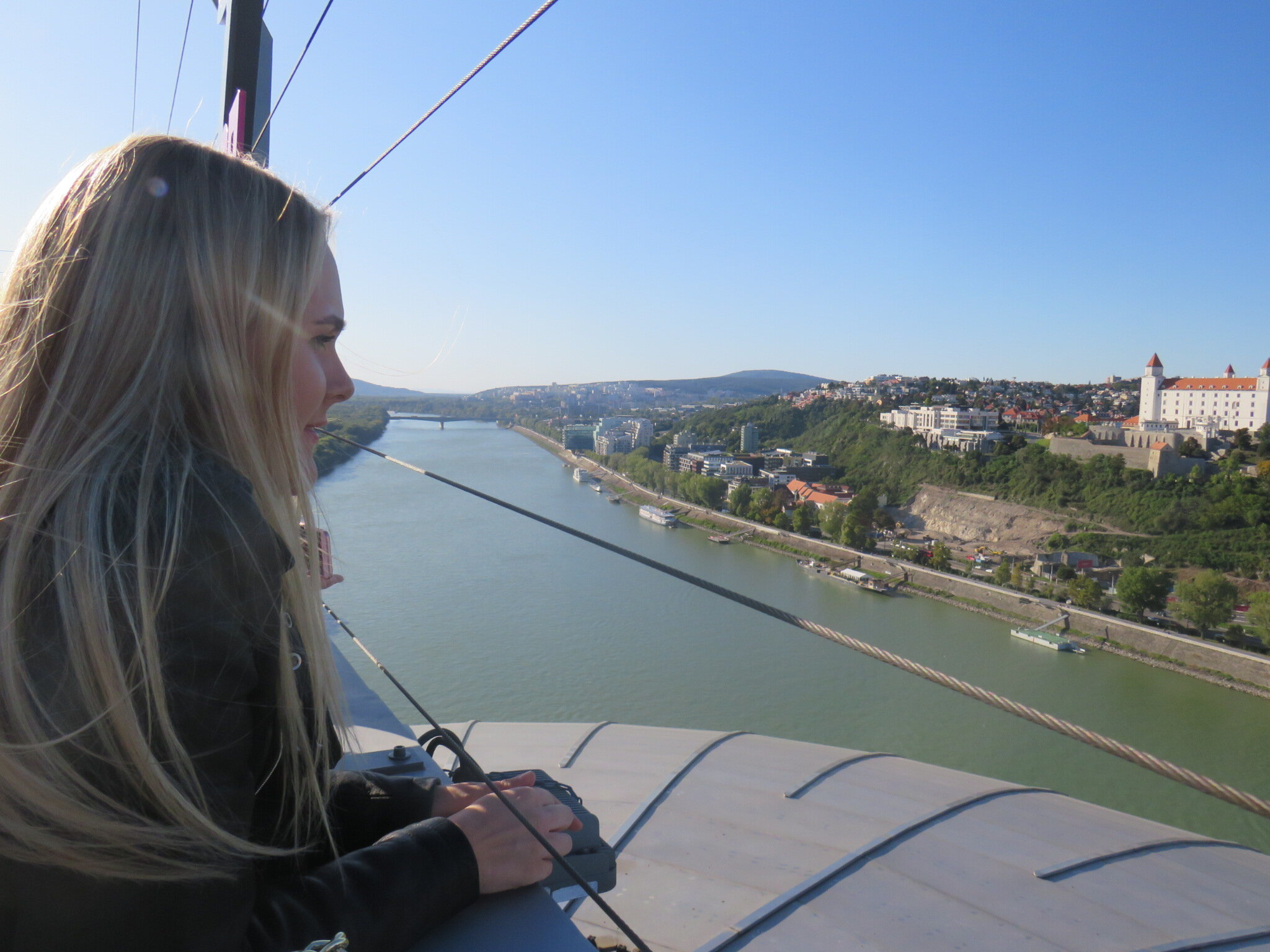 Ewelina, enjoying the view from the UFO Observation Deck