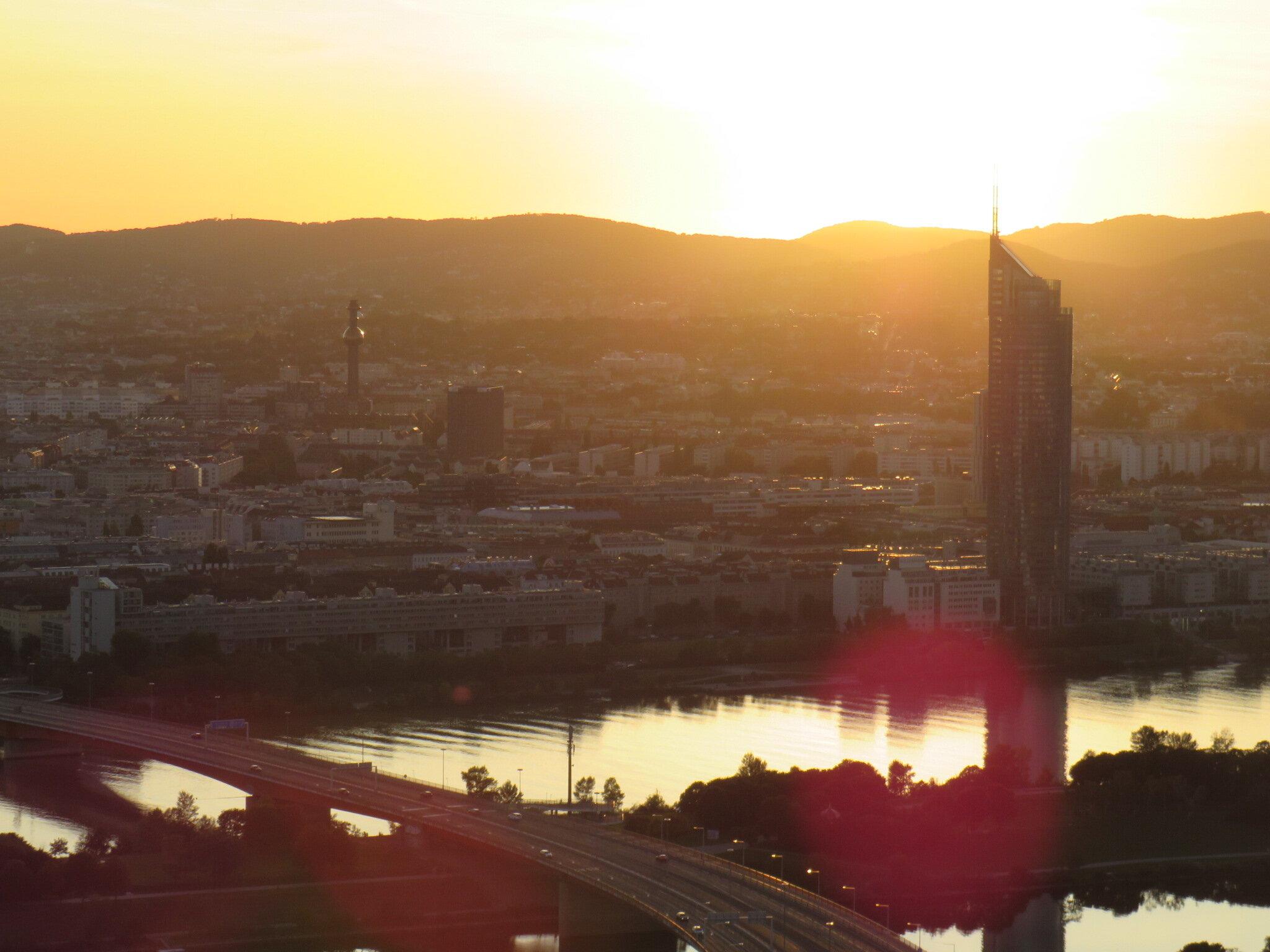 Danube Tower Sunset