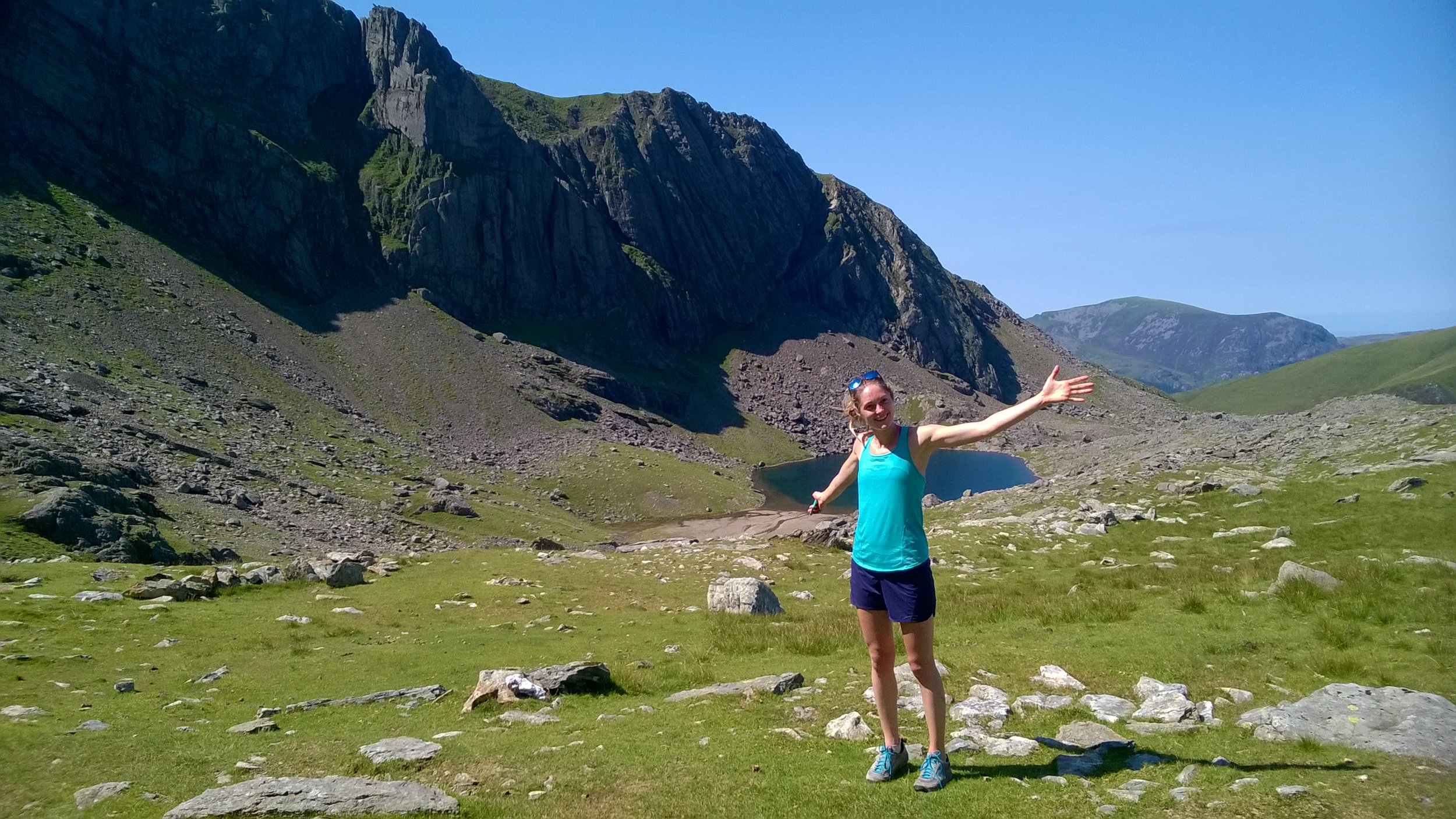 Katy and glorious Cloggy, North Wales