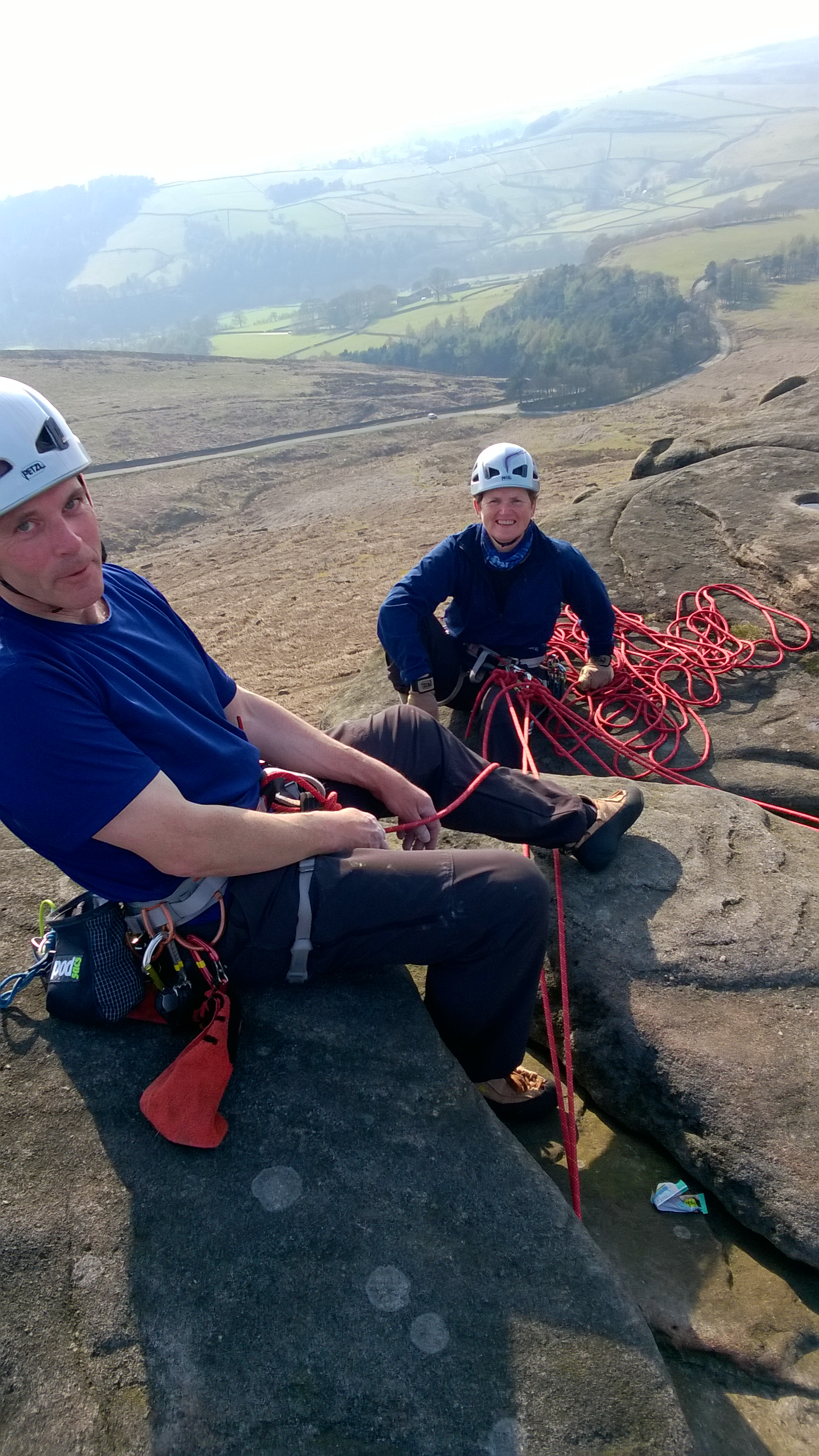 Paul & Claire at Stanage. They started together at 50 and have never looked back!