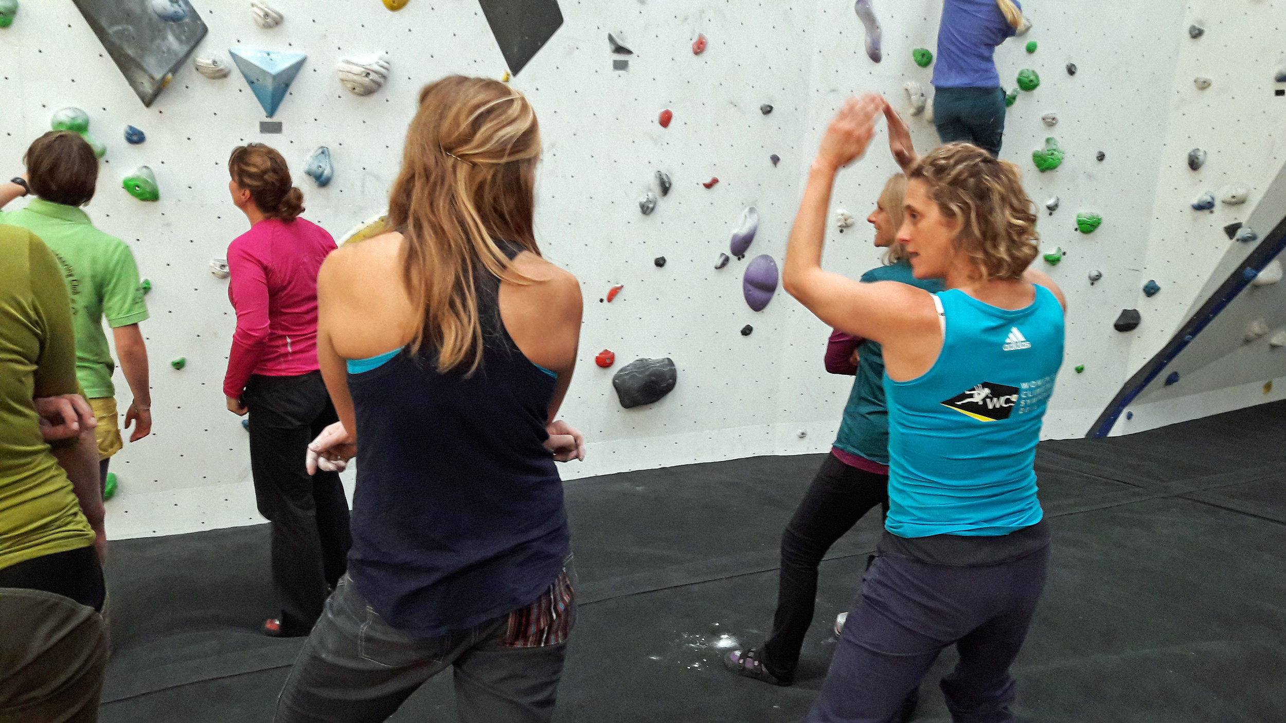 Coaching at the Women's Climbing Symposium