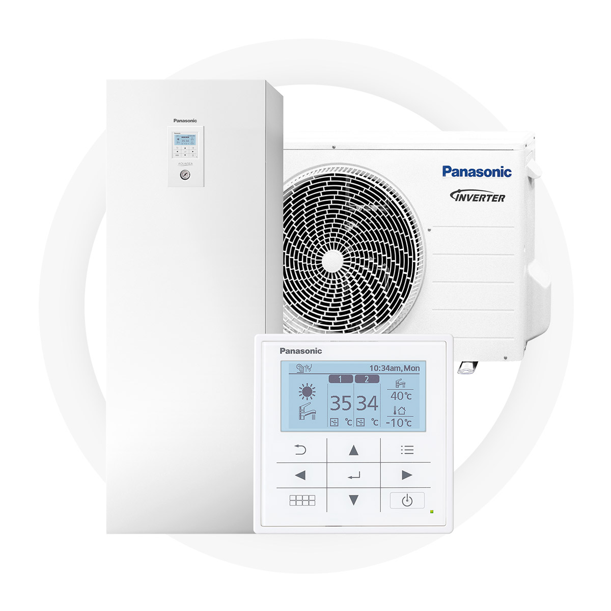 Panasonic t-cap all-in-one - Integrated 100 L domestic water boiler Significant savings on energy bills – up to 78% less100% efficiency even at -20°C ambient temperaturePossible to integrate to an existing heating systemCreated for Nordic climate and tested at -27°C5-year full factory warranty by Panasonic