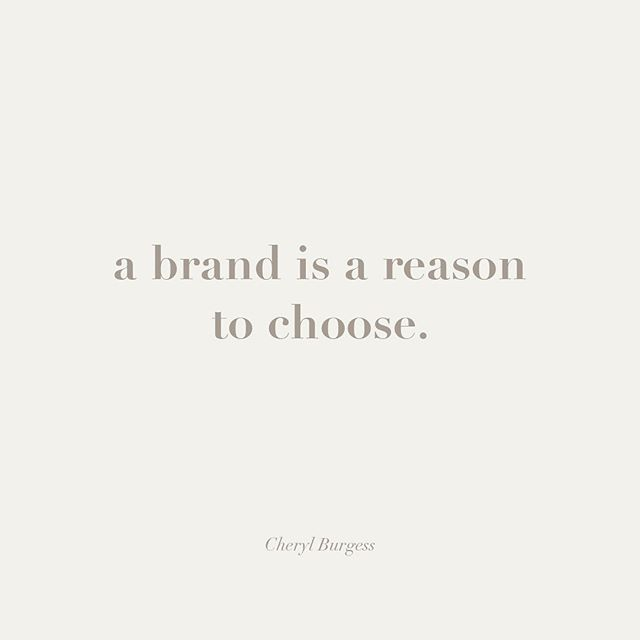 If people can see the love and how you visually care your business and pour that into your brand, people will choose you. Who wouldn't want that?