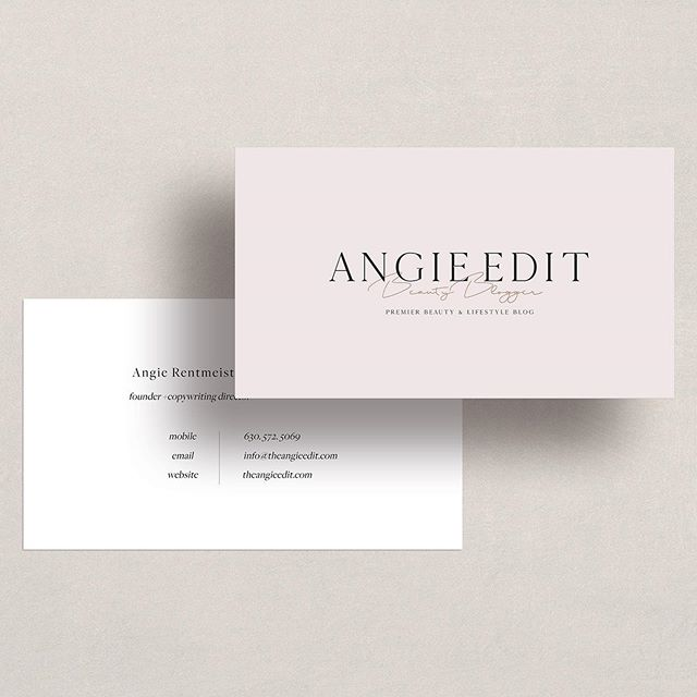 When @theangieedit wanted Business Cards designs for her brand I was so excited! With her taste in minimal style and soft color palette - it totally aligned with my personal taste in aesthetics and style. I just knew I'd love this project!⠀ ⠀ Do you have enjoy creating brand collateral like biz cards or other types of stationery?