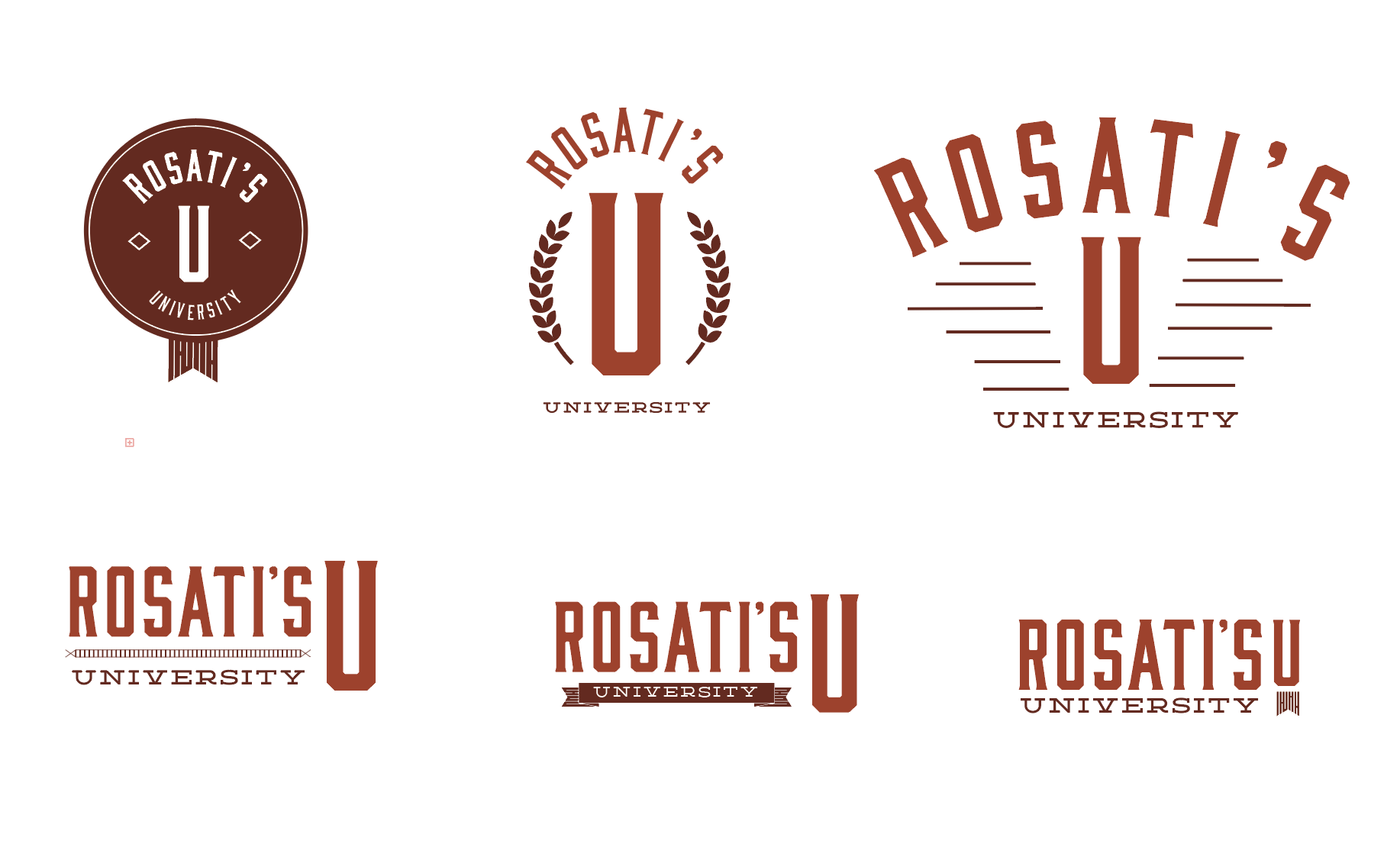 These were the logo concepts I came up with. Ultimately they choose the logo on the first row in the center .