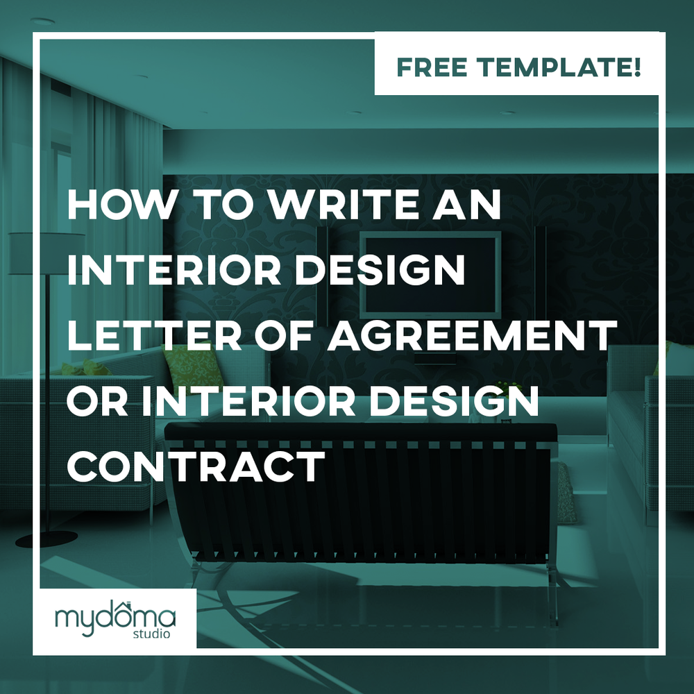 interior design contract agreement template sample