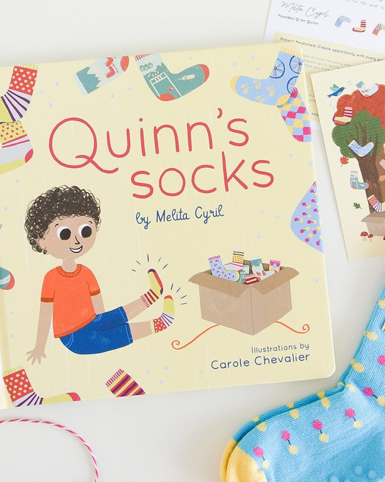 Quinn's Socks, Children's Book -