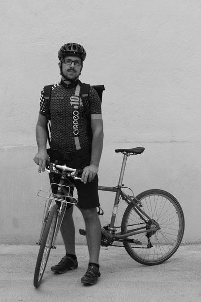 PIERRE GUEGEN   Coursier à vélo,   EN ROUE LIBRE