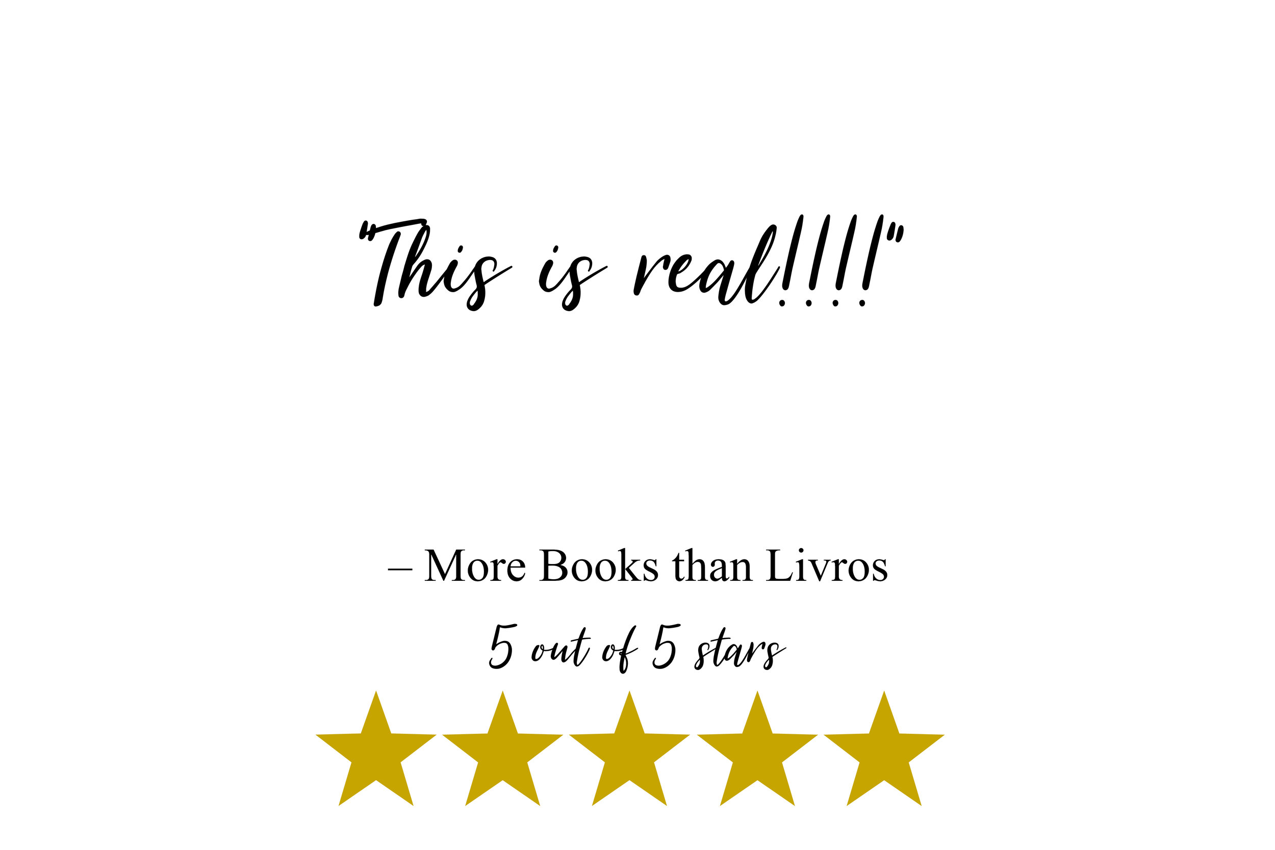 """This is real!!!!"" - More Books than Livros Review"