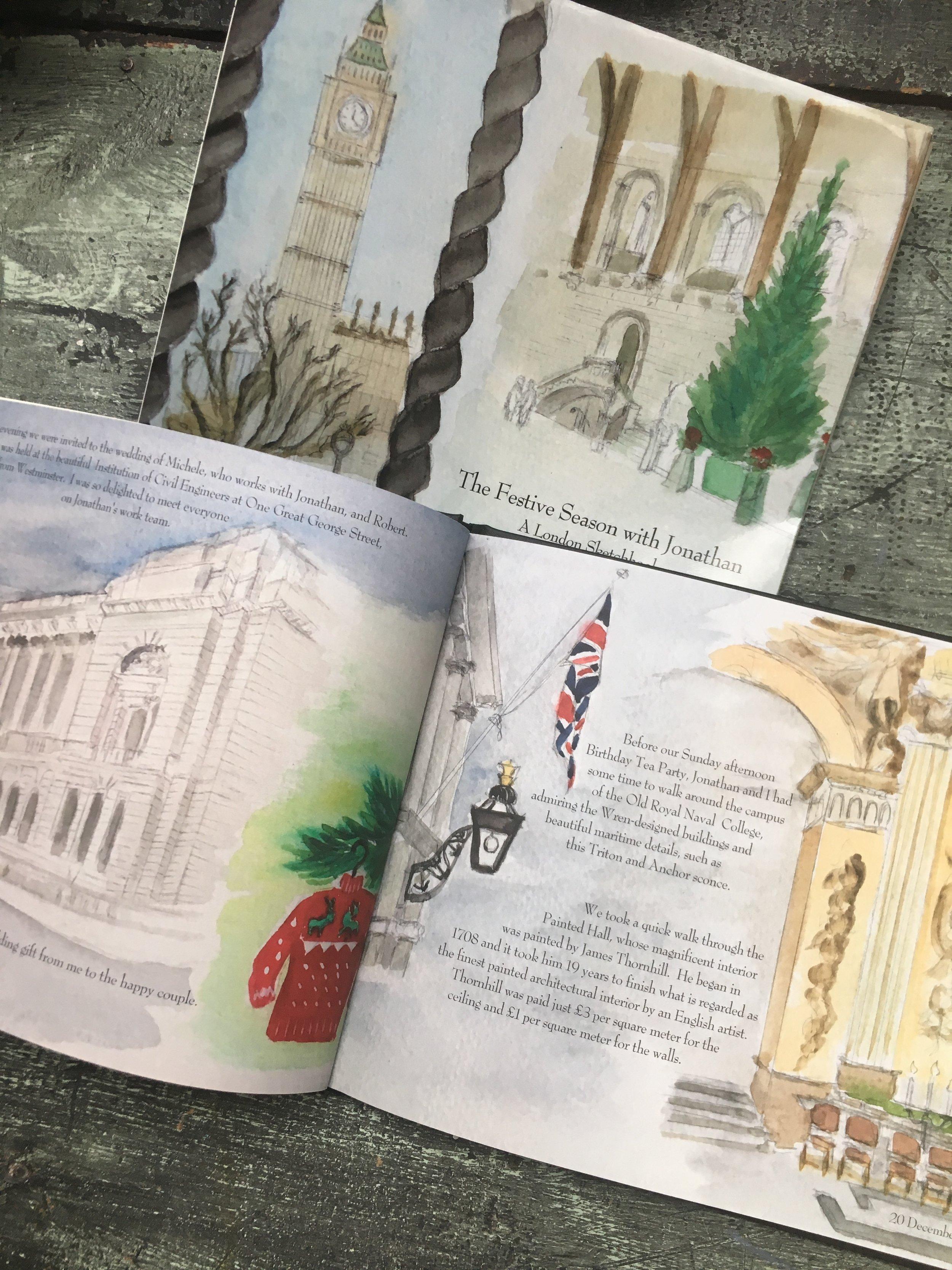 Watercolor Book of Travel Memories