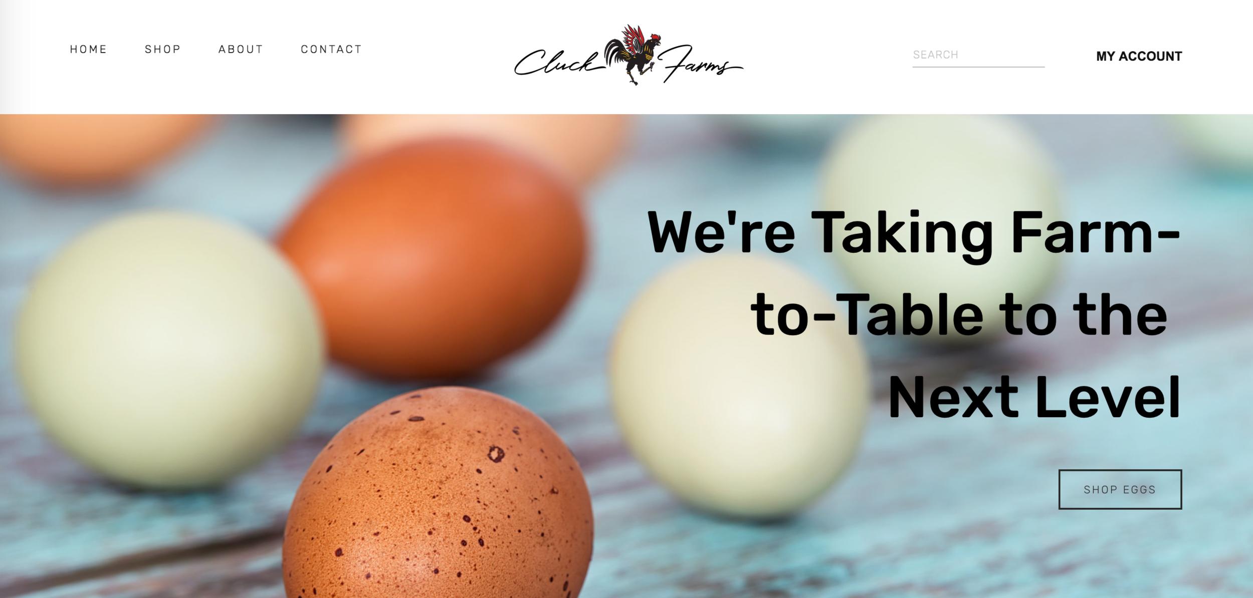Cluck Farms Website