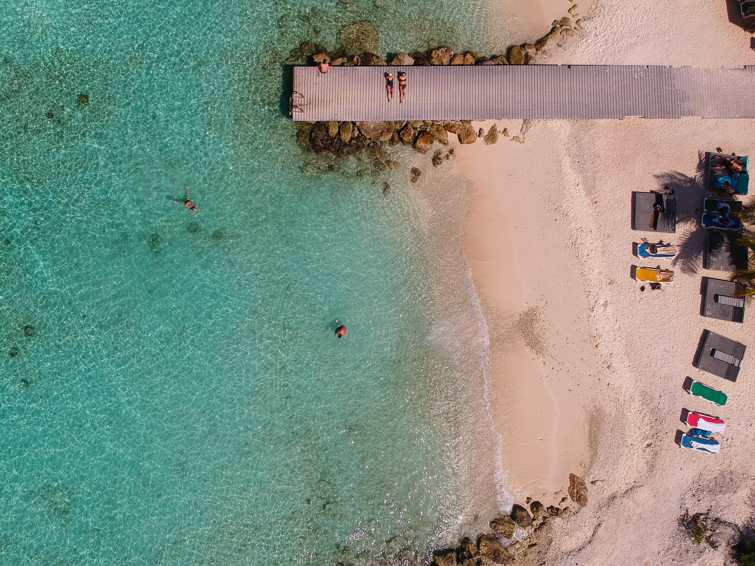 Caribbean Beach from Above