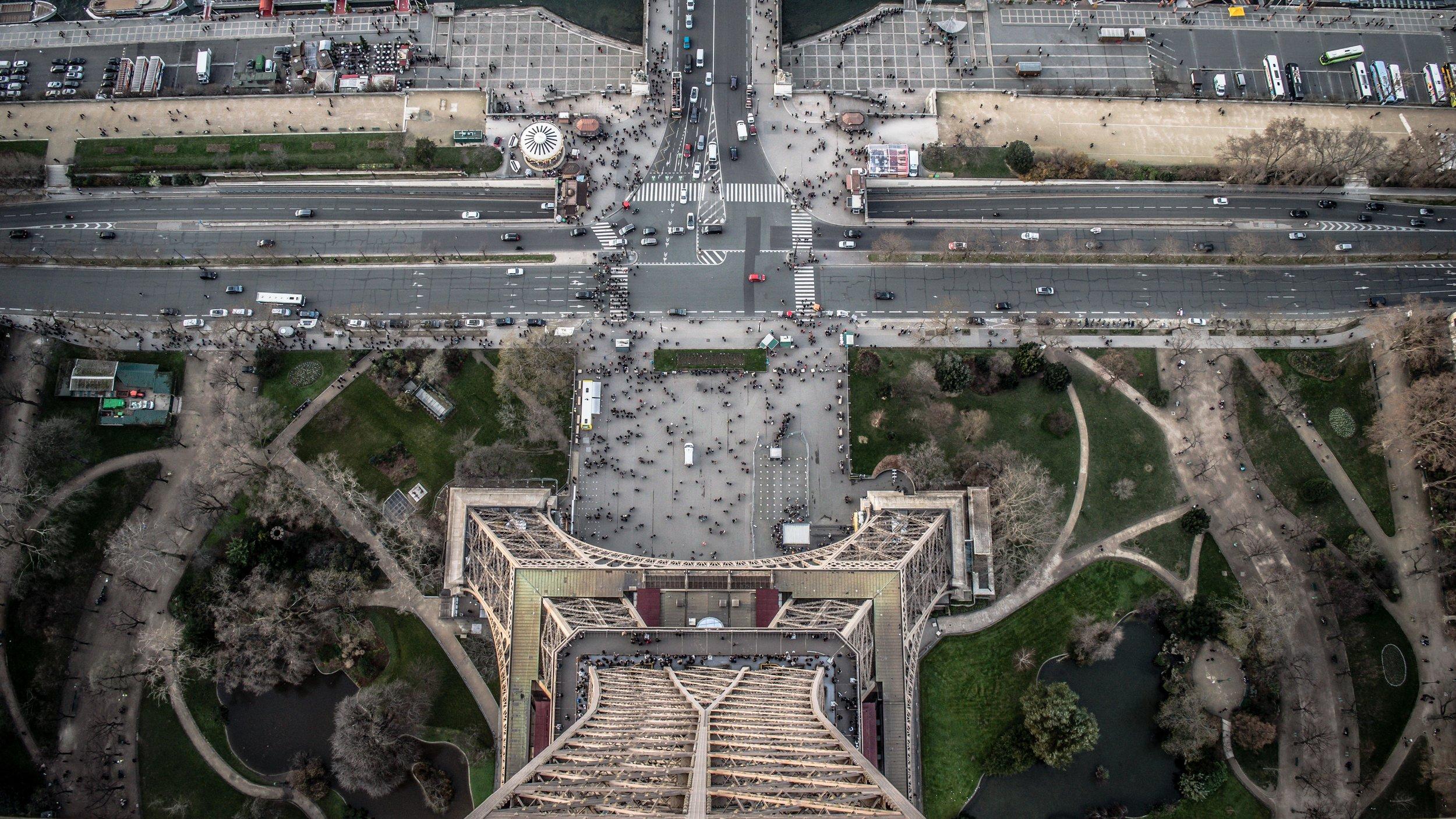 Eiffel Tower Looking Down