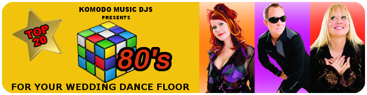 Komodo Music Banner- Wedding Dancefloor blog- 80's.1
