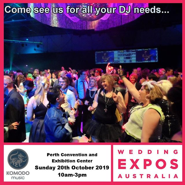 HAPPENING TOMORROW!⁠ Are you or someone you know getting married? Well THIS SUNDAY @WeddingExposAustralia will be at the PCEC from 10am till 3pm. Heaps of vendors and of course, Komodo Music DJs. Come down and say hello! 😉⁠ .⁠ .⁠ .⁠ #Wedding #WeddingExpo #WeddingExpoAustralia #KomodoMusic #KomodoMusicDJs #DJDave #WeddingVendors #WeddingSuppliers
