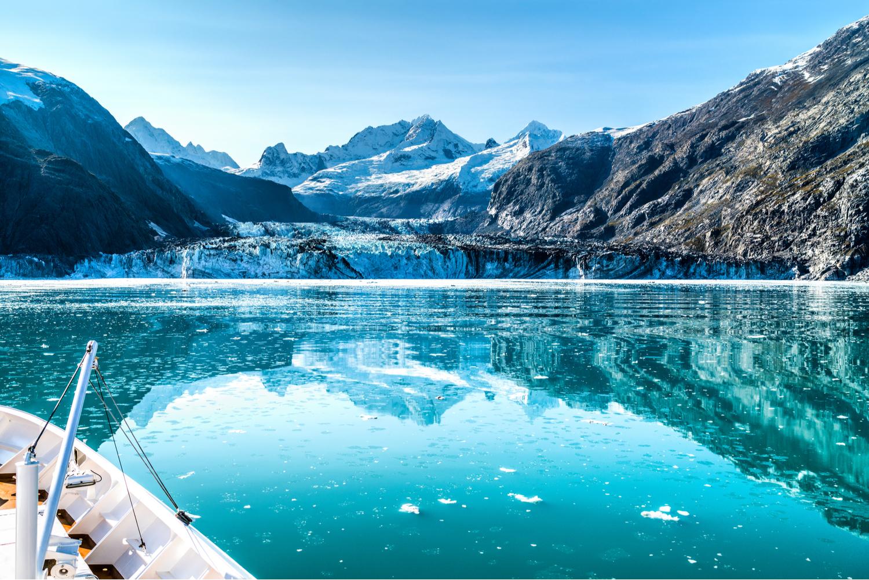 Glacier Bay in Alaska from a cruise ship