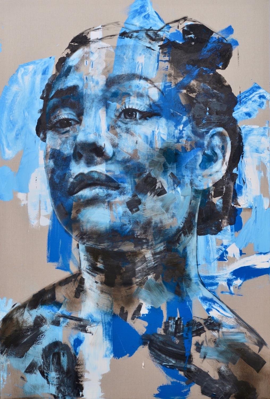 Abandon #1, 2017, Oil & Mixed Media on Linen, 280x190cm