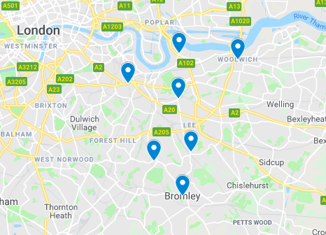 South East London Map.Ppa Pe Lessons In South East London Kent Hw School Skills
