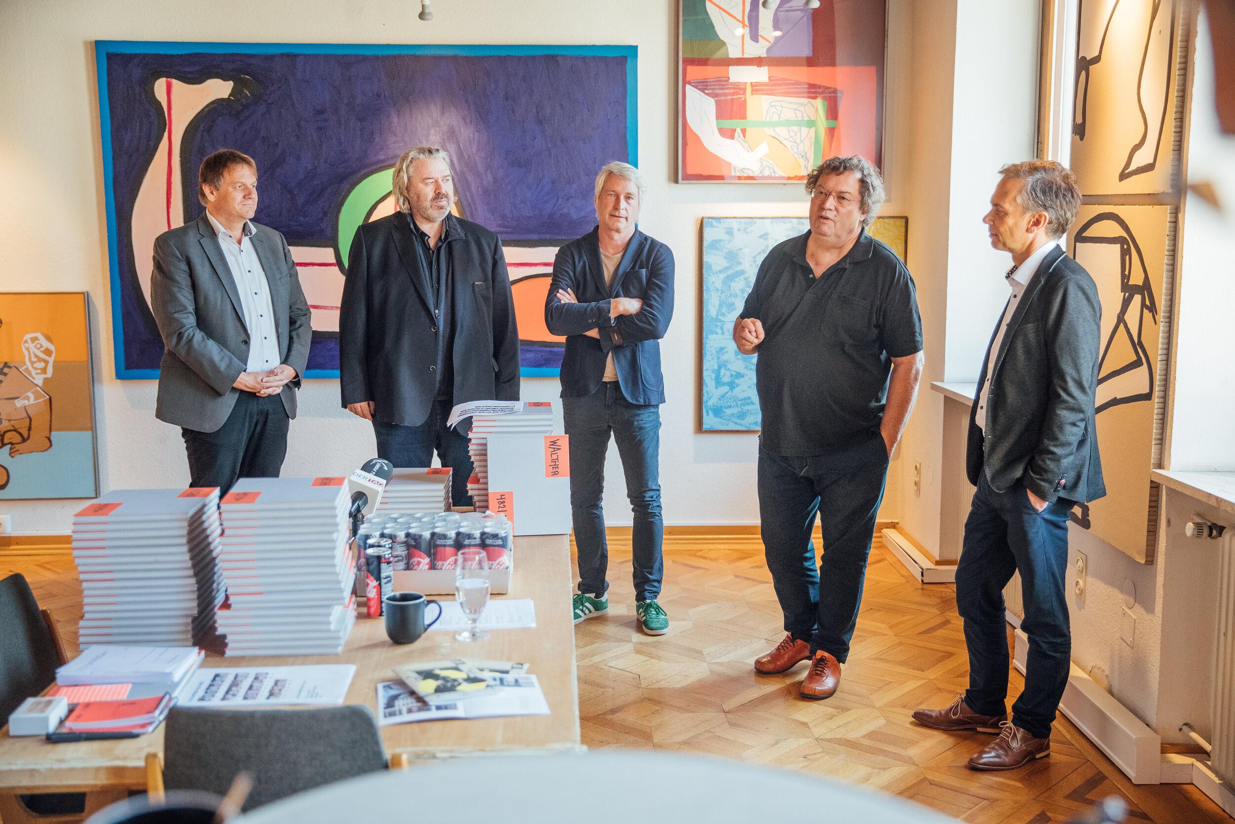 Pressekonferenz am 11.09.2019: Christoph Thoma, Marco Spitzar, Beatus Fleisch, Alexander Waltner, Peter Niedermair