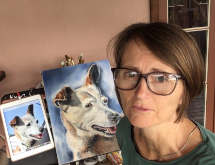 CUSTOM MEMORIAL PAINTING OF DOG BYOPAL PASTRO ART
