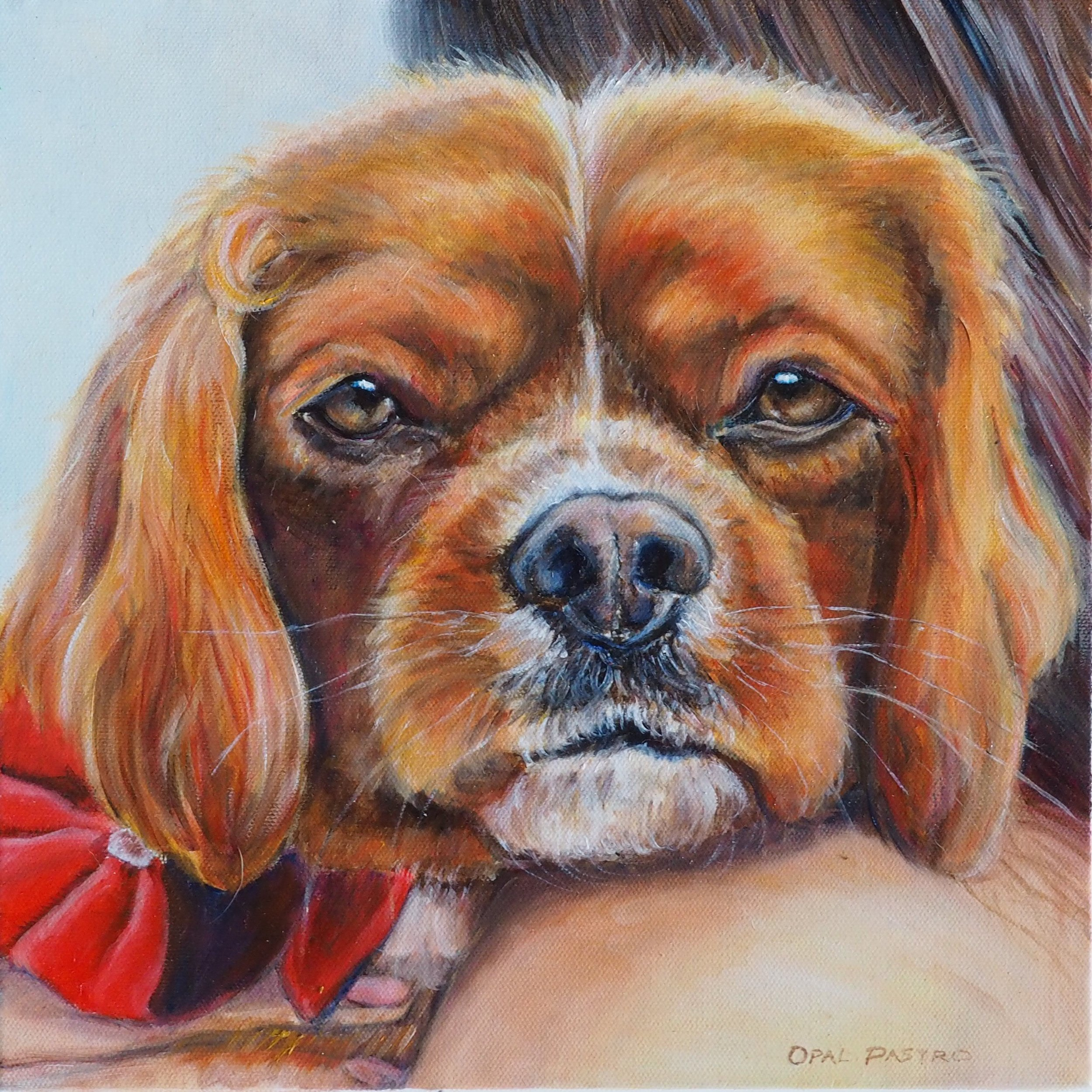 DOG CUSTOM PORTRAIT OF CAVALIER BY OPAL PASTRO ART