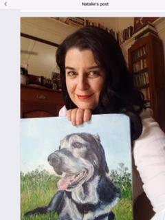 DOG PORTRAIT CUSTOM PET PORTRAIT BY OPAL PASTRO ART