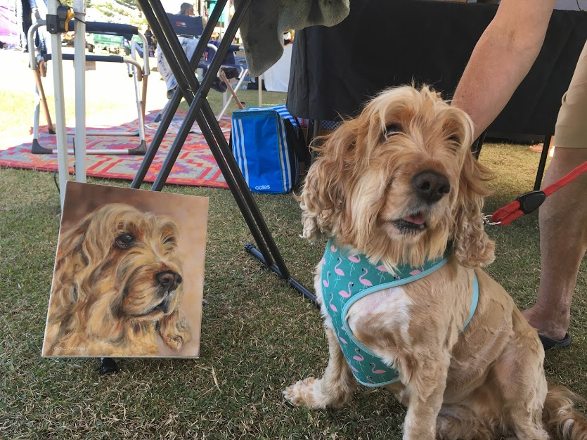 CUSTOM DOG PORTRAIT COCKER SPANIEL BY OPAL PASTRO ART