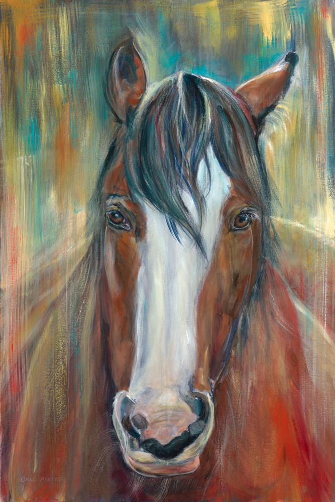 CLYDESDALE CONTEMPORARY PAINTING. HOME DECOR ART BY OPAL PASTRO ART