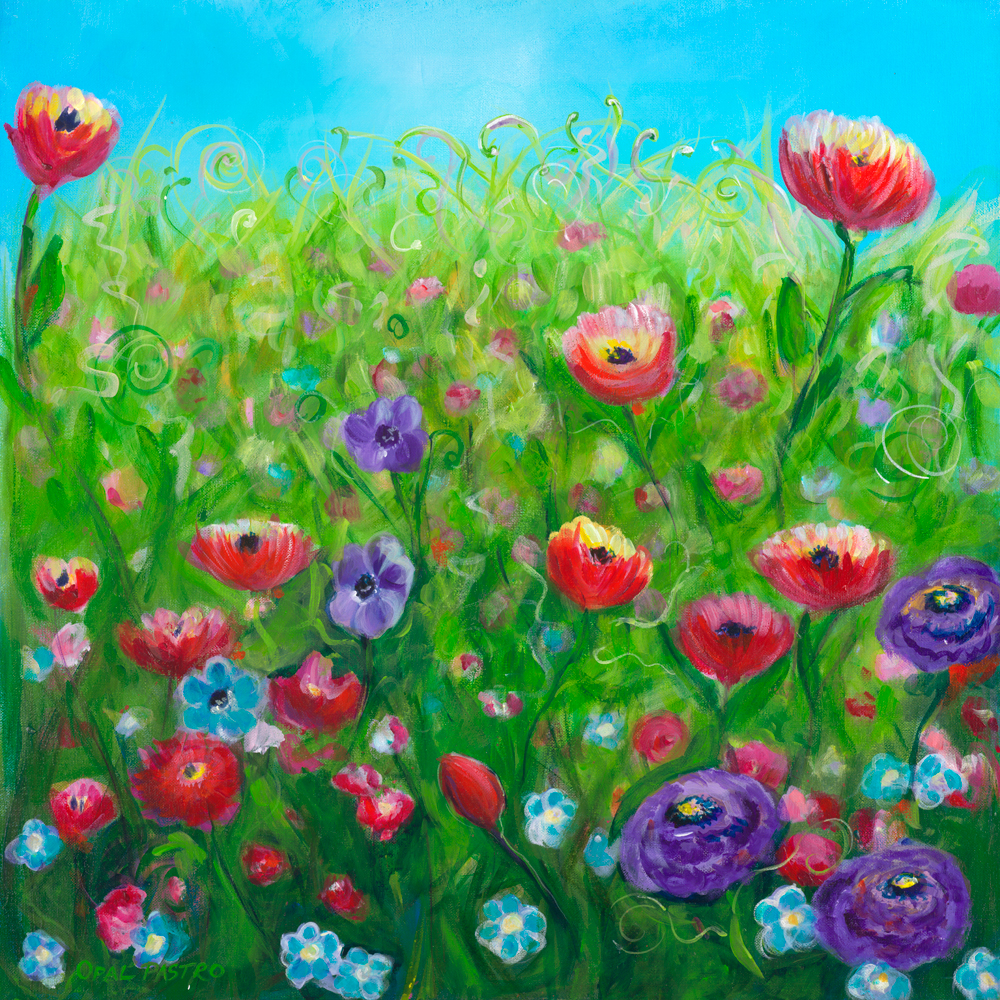 FLORAL PAINTING FINE ART REPRODUCTION BY OPAL PASTRO ART