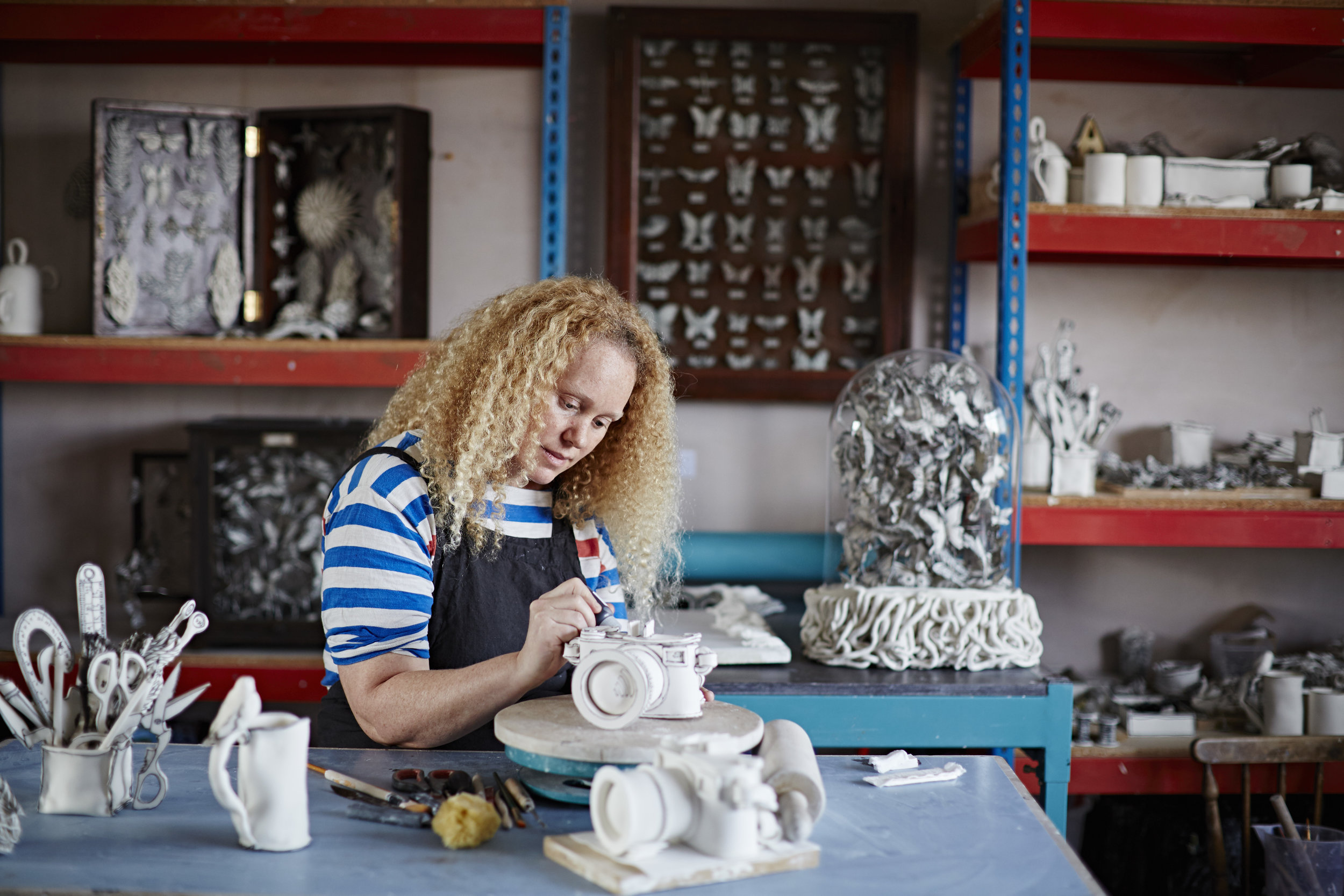 Katharine Morling in the Studio - Image by Alun Callender for Cockpit Arts