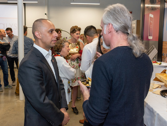 "Explaining to Mayor Elorza the context of being ""fully-cocked."""