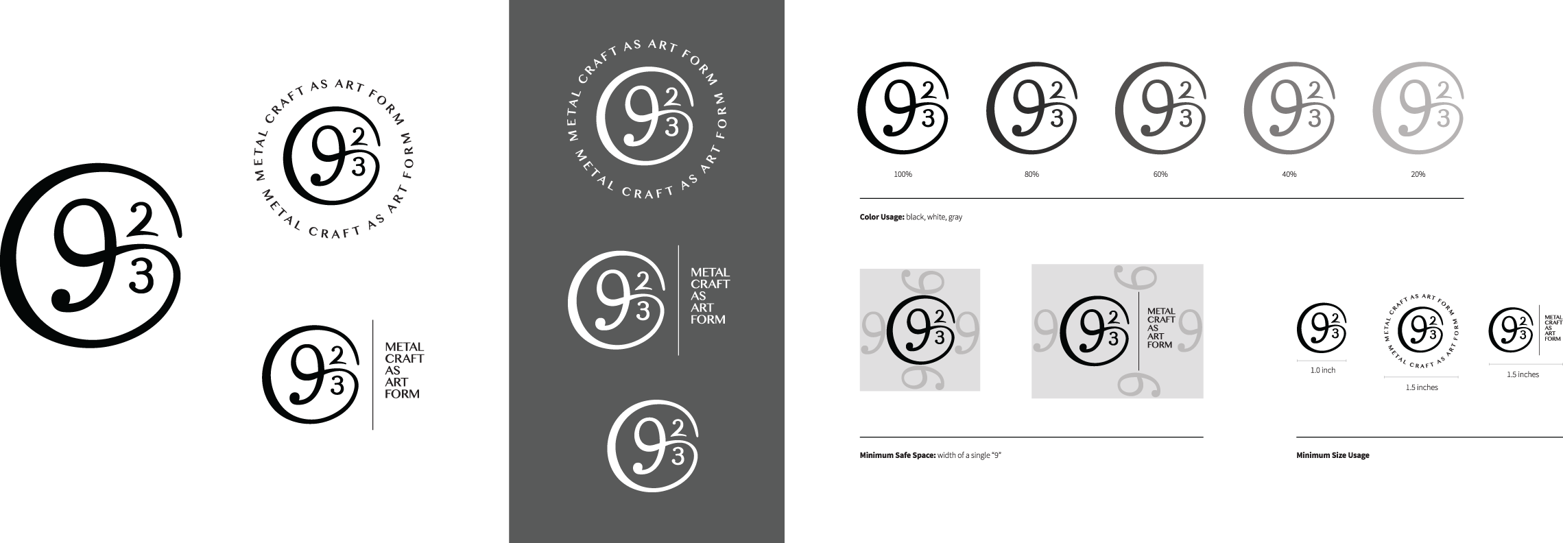 This is a very simple logo usage guide I created for a recent client. More complex branding guidelines include information about color, typography, imagery, marketing copy, and more.