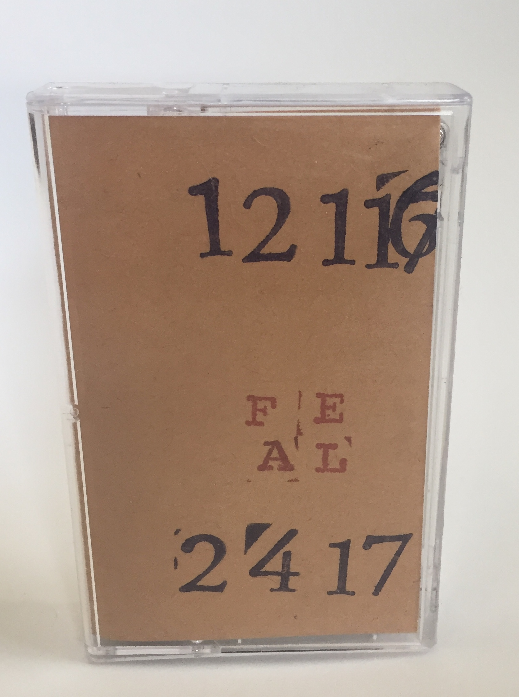 "Free Electronic Association of Louisville - ""12/11/16 & 2/4/17"" (ltd cassette)  Document of early performances from Louisville based collective. Large group electronic improvisations."