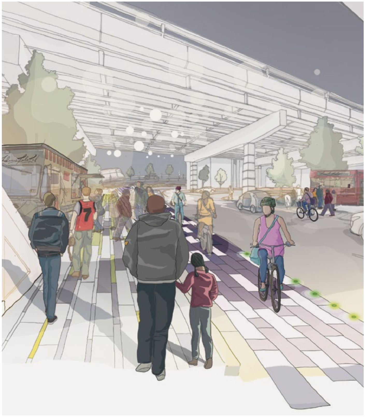 Sidewalk Labs' illustration of Cherry Street