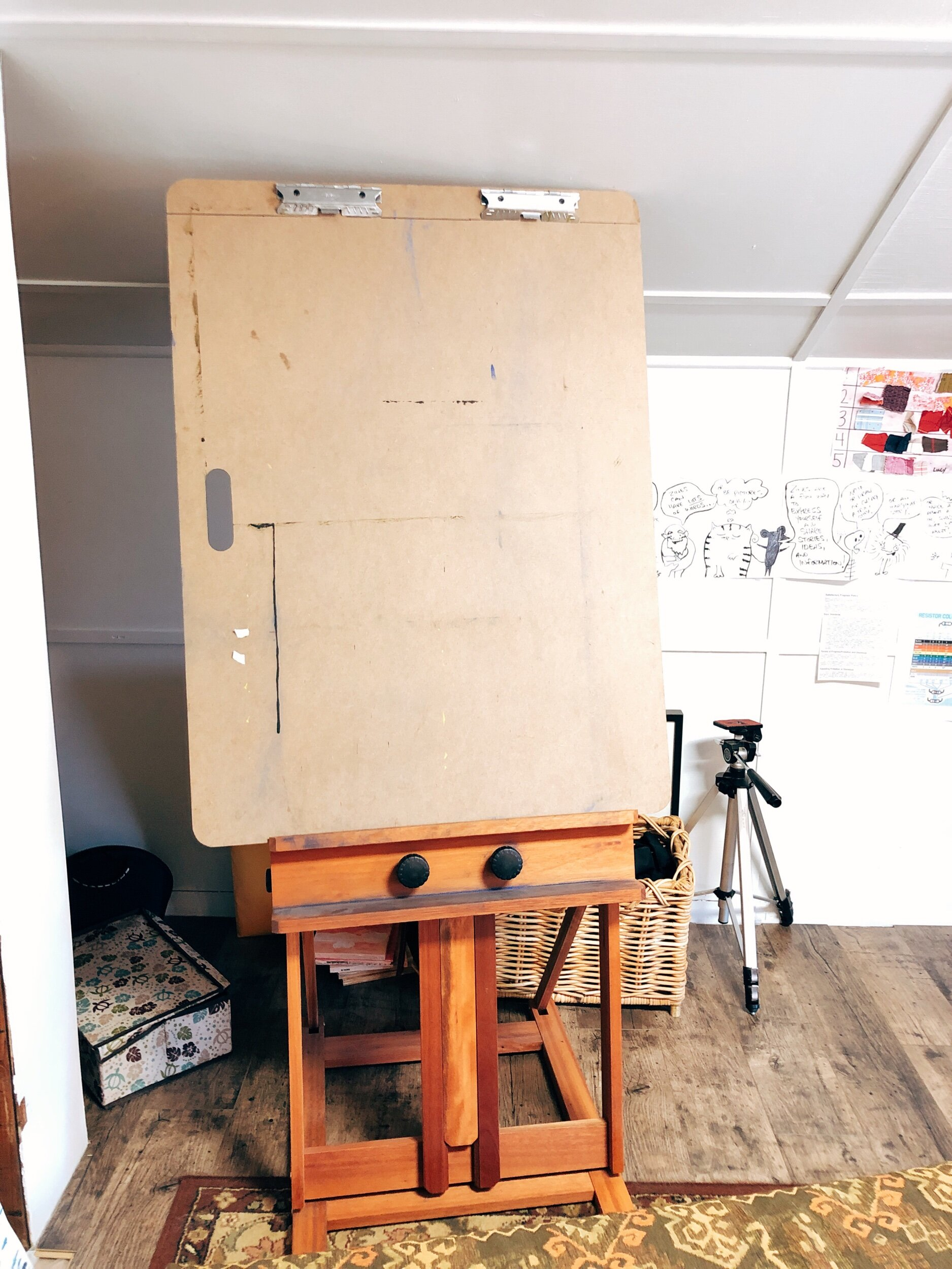 I love my easel. Here's what it looks like.