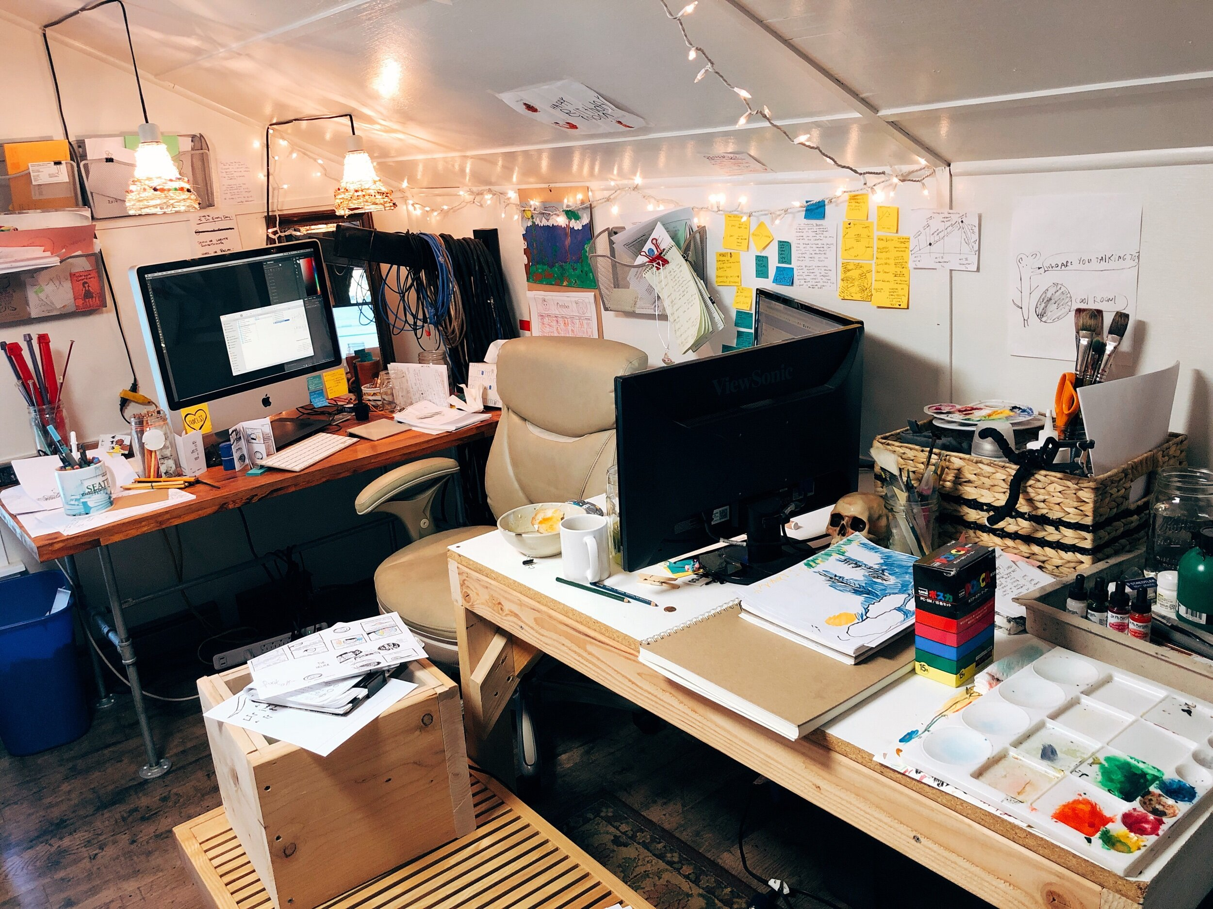 My messy art nest.