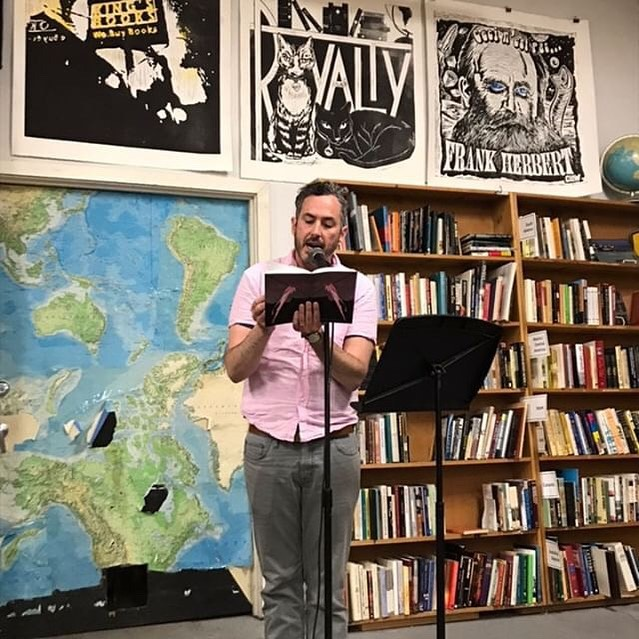 @james_keith_smith reading 'High Risk' at @kingsbooks • June 6, 2019