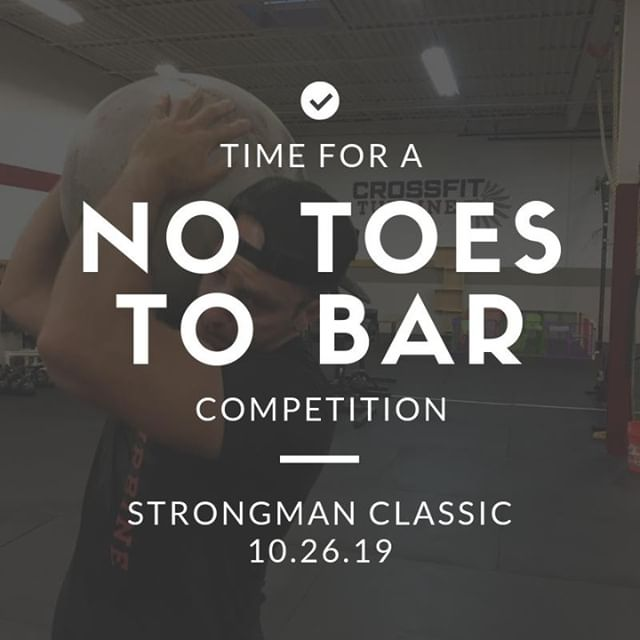 One of the top competitions movement standards....EXCEPT for this one!  Sign up! Link in bio!  #crossfitturbine #strongman #oddobjects #noburpees #nothrusters #notoestobar
