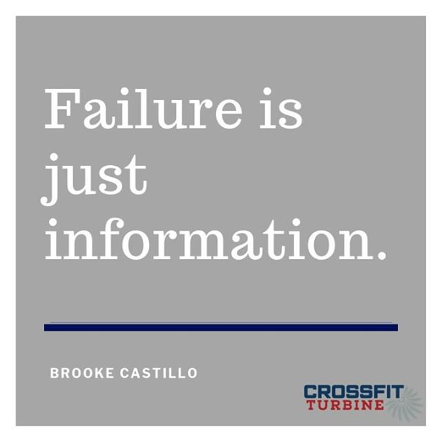 """🛑STOP!!🛑  You did NOT fail, you did NOT make a mistake.  Yes, failure is frustrating as heck....BUT...you did NOT fail! You just were gathering information😁 That information is super valuable. Take it, store it, and use it to your advantage.   If you don't believe me, here is a friendly reminder about the information gathered from these """"failures."""" -J.K. Rowling's HP manuscripts were rejected 12 times🧙♂️ -Walt Disney was fired from a newspaper because he """"lacked imagination and had no good ideas.""""🧜♀️🦁🧚♀️👸 -Michael Jordan was trusted to make the game winning shot and missed 26 times🏀  #crossfitturbine #mindset #mindful #healthyhabits #winning #fitness #motivation  """