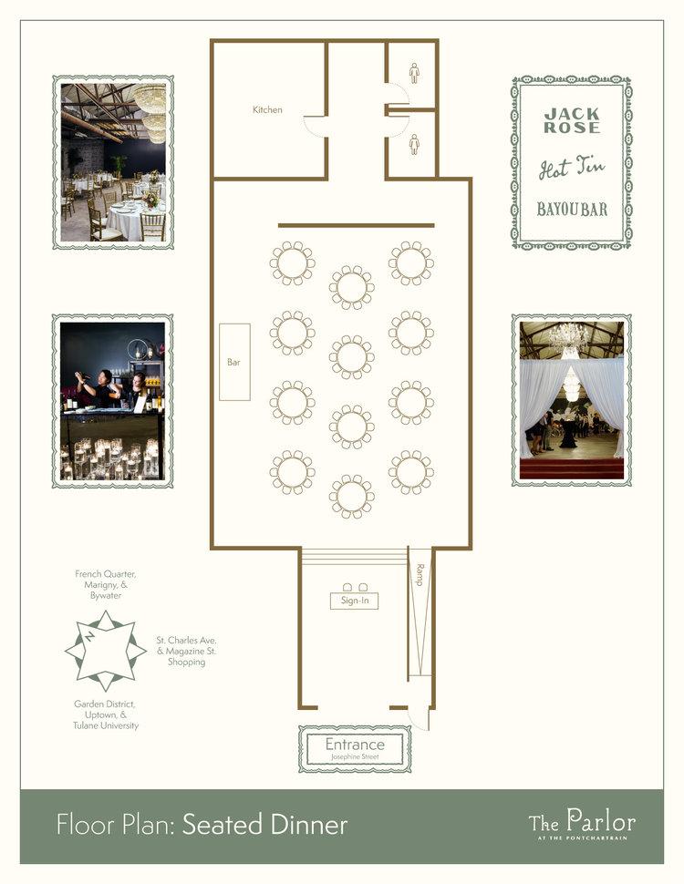Floor Plans Wedding Venue The Parlor At The Pontchartrain