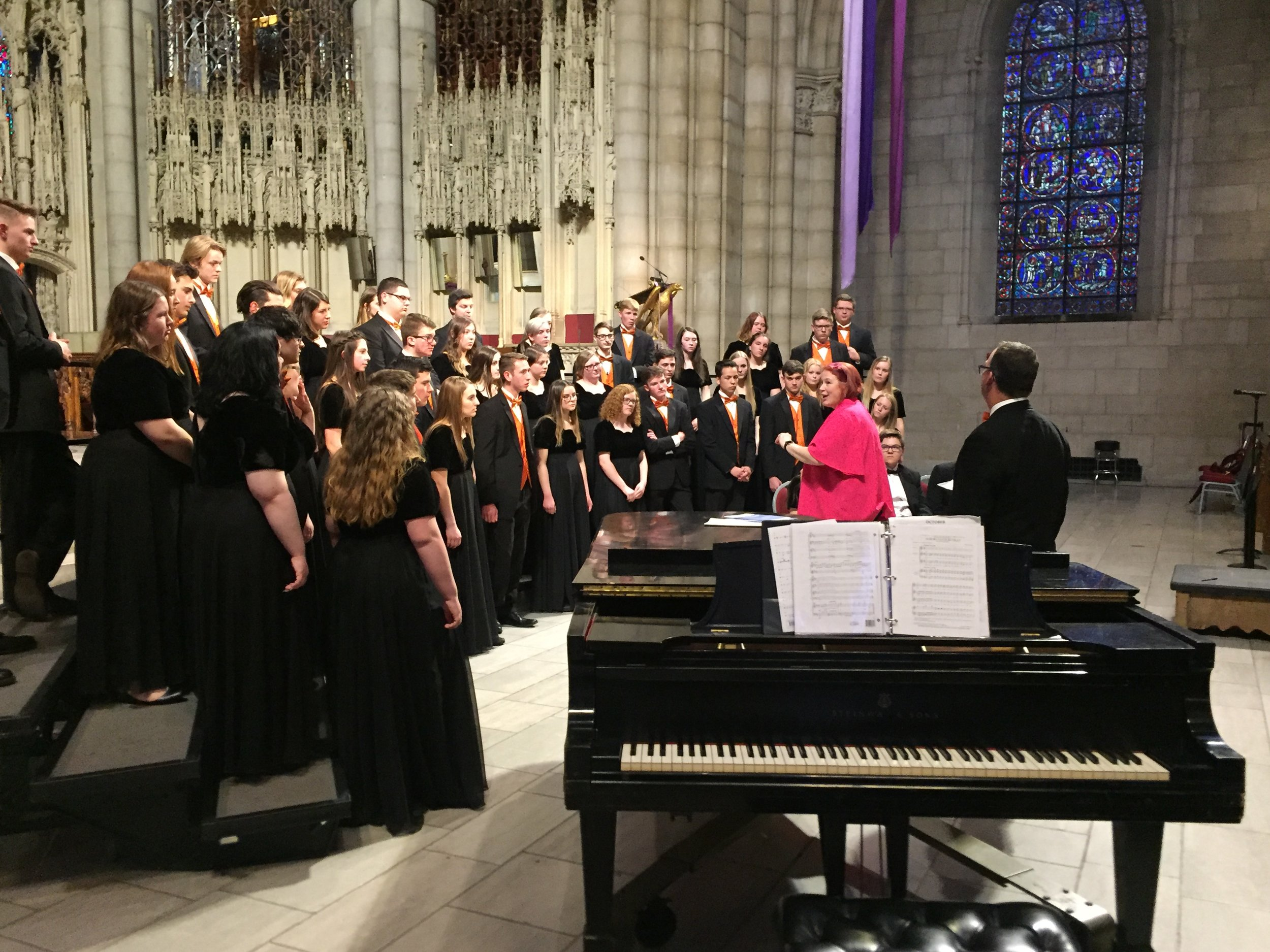 Working with a choir in New York City's famous Riverside Church