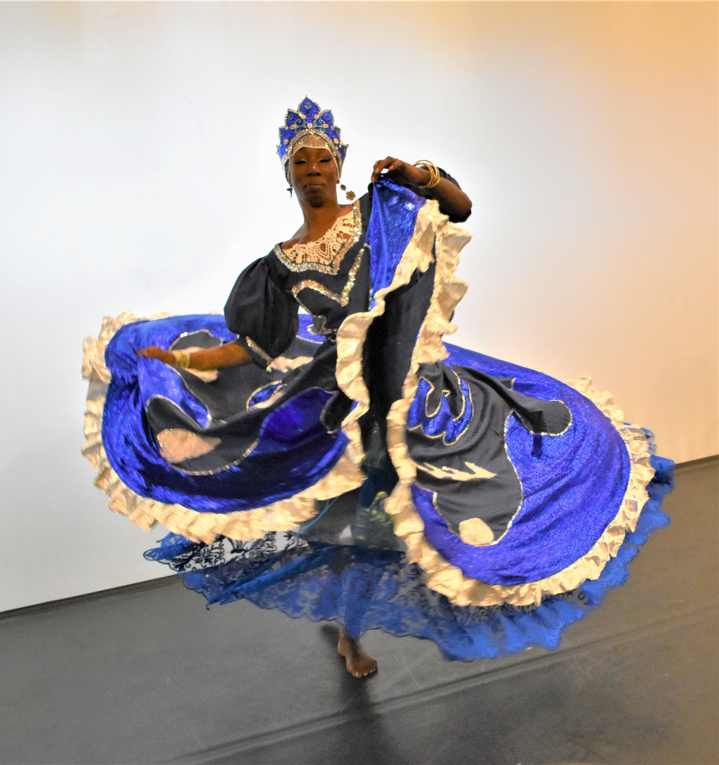 Ama Schley as Yemaya, the goddess of the ocean and rivers, including the River Ogun. Her name means