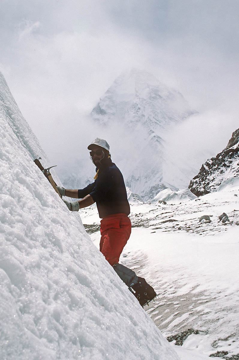 Kyle Lefkoff on the North Face of K2 (1986)