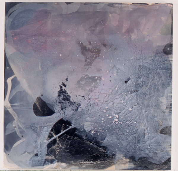 SoHyun Bae, Wrapped Shards #7, 2002, rice-paper and pure pigment on canvas, 60 x 60 inches