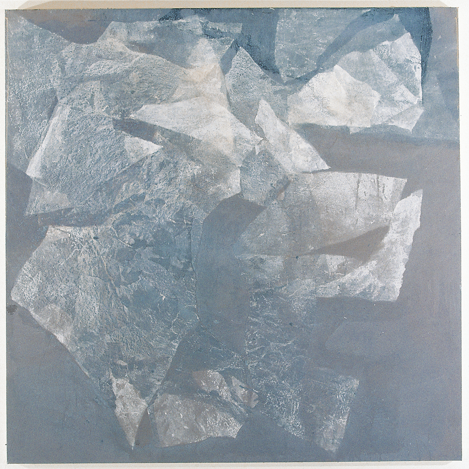 SoHyun Bae, Wrapped Shards #10, 2002, rice-paper and pure pigment on canvas, 60 x 60 inches